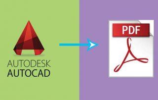 تبدیل فایل اتوکد به یک فایل PDF