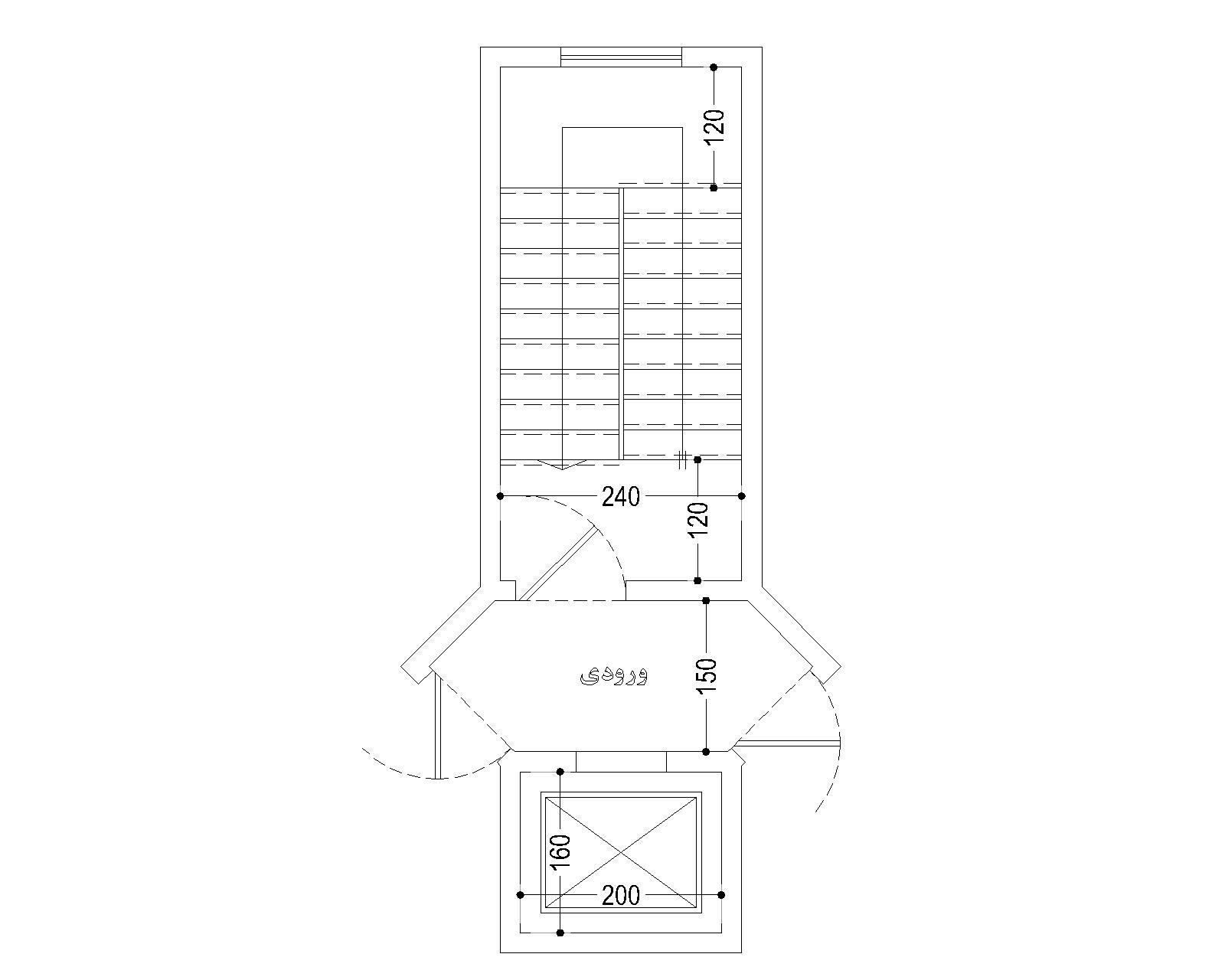 طراحی راه پله و آسانسور