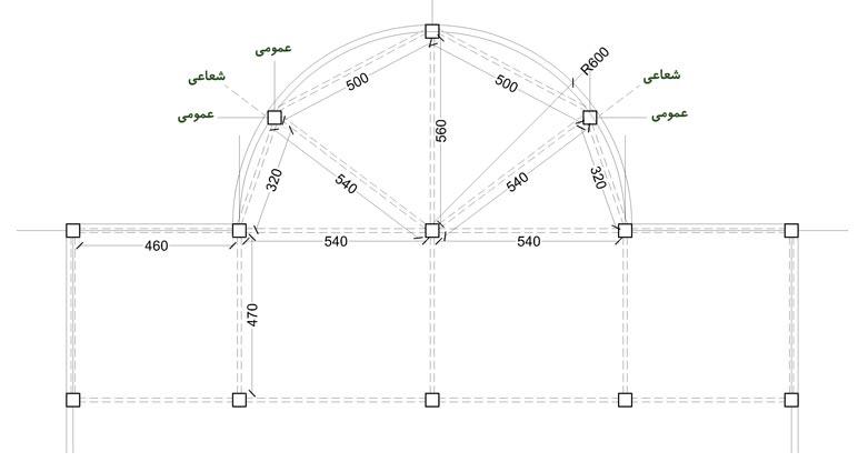 ستون گذاری در پلان منحنی